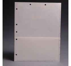 Chart Divider Sheets for Stick-On Tabs, White with 1/2 Pocket, 8 1/2: x 11
