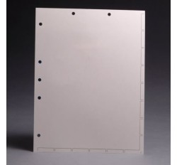 Chart Divider Sheets for Stick-On Tabs,  White, 8 1/2