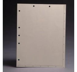 Chart Divider Sheets for Stick-On Tabs,  Manila, 8 1/2
