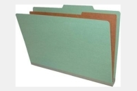 Type I Pressboard Classification Folders, Top Tab, Legal Size, 1 Divider, Fasteners Pos. 1 & 3 (Box of 10)