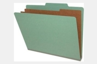 Type I Pressboard Classification Folders, Top Tab,   Letter Size, 2 Dividers, Fasteners Pos. 1 & 3 (Box of 10)