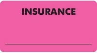 "MAP2830 - INSURANCE - Fl Pink, 3-1/4"" X 1-3/4"" (Roll of 250)"