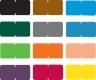 "Tab Compatible Solid Color Labels, Vinyl Kimdura Stock, 1/2"" X 1"" Individual Colors - Roll of 1000"