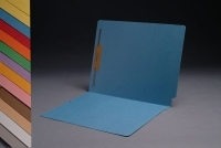 14 pt Color Folders, Full Cut 2-Ply End Tab,  Letter Size, Fastener Pos. 1 (Box of 50)