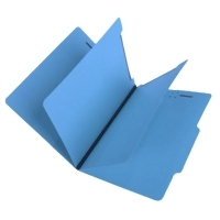 15 Pt.    Blue Classification Folders, 2/5 Cut Top Tab, Letter, 2 Dividers (Box of 25)