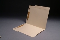 "11 pt Manila Folders, 8"" Reinforced Top Tab, Letter Size, Fasteners Pos. 1 & 3 (Box of 50)"