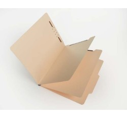 15 Pt.      Manila Classification Folders, 2/5 Cut Top Tab, Letter, 2 Dividers (Box of 25)