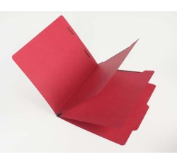 15 Pt.  Red Classification Folders, 2/5 Cut Top Tab, Letter, 2 Dividers (Box of 25)