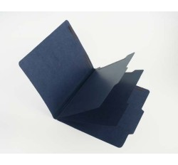 15 Pt. Indigo Classification Folders, 2/5 Cut Top Tab, Letter, 2 Dividers (Box of 15)