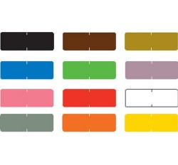 Barkley Compatible Solid Color Labels, Laminated Stock, 1/2