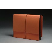 Full End Tab Expansion Wallets, Tyvek Color Gussets,  Letter Size, 1-3/4