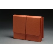 Full End Tab Expansion Wallets, Paper Gussets,  Letter Size, 3-1/2