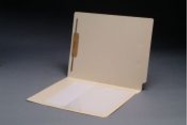 11 pt Manila Folders, Full Cut End Tab, Letter Size, 1/2 Poly Pocket, Fastener Pos. 1 (Box of 50)