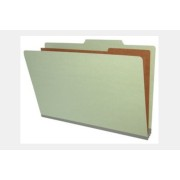 Type III Pressboard Classification Folders, Top Tab, Legal Size, 2 Dividers, Fasteners Pos. 1 & 3 (Box of 10)