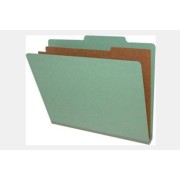 Type II Pressboard Classification Folders, Top Tab,  Letter Size, 2 Dividers, Fasteners Pos. 1 & 3 (Box of 10)