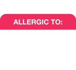 MAP1000 - ALLERGIC TO: - Red/White, 1-1/2
