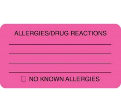MAP1730 - ALLERGIES/DRUG REACTIONS - Fl Pink, 3-1/4