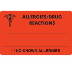 MAP327 - ALLERGIES/DRUG REACTIONS - Fl Red, 4