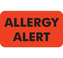 MAP4930 - Allergy Alert - Fl Red, 1-1/2