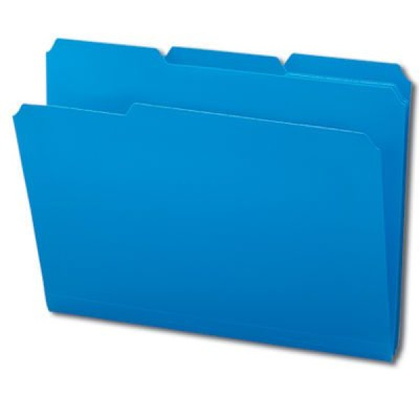 SMEAD Poly File Folders (Colors), 1/3 Cut Top Tab - Assorted, Letter Size (Box of 24)