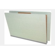 Type I Pressboard Classification Folders, Full Cut End Tab, Legal Size, 1 Divider, Fasteners Pos. 1 & 3 (Box of 10)