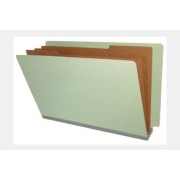 Type II Pressboard Classification Folders, Full Cut End Tab, Legal Size, 3 Dividers, Fasteners Pos. 1 & 3 (Box of 10)