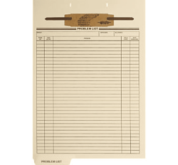 Preprinted Fileback Divider Sheets, Problem List (Box of 100)