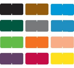 Tab Compatible Solid Color Labels, Vinyl Kimdura Stock, 1/2