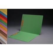 11 pt  Color Folders, Full Cut 2-Ply End Tab,  Letter Size, Fasteners Pos. 1 & 3 (Box of 50)
