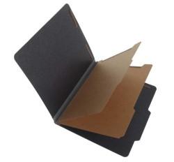 25 Pt. Fushion Black Pressboard Classification Folders, 2/5 Cut ROC Top Tab, Letter Size, 2 ...