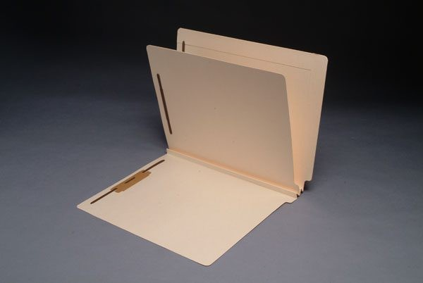 14 Pt. Manila Classification Folders, Letter, 1 Divider, Fasteners Pos. 1 & 3 (Box of 25)