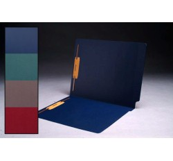 Cheshire Linen Color Folders, Full Cut 2-Ply End Tab, Letter Size, Fasteners Pos. 1 & 3 (Box...