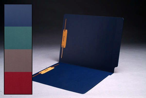 Cheshire Linen Color Folders, Full Cut 2-Ply End Tab, Letter Size, Fasteners Pos. 1 & 3 (Box of 50)