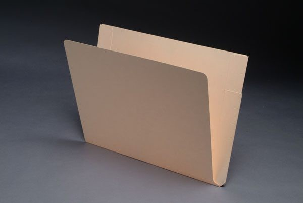 11 pt Manila Folders, Full Cut End Tab, Letter Size, Double Pockets Outside Back (Box of 50)