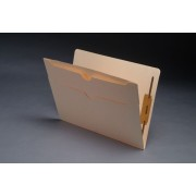 11 pt Manila Folders, Full Cut End Tab, Letter Size, Double Pockets Outside Back, Fasteners Pos. 1 & 3 (Box of 50)