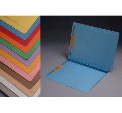 14 pt Color Folders, Full Cut 2-Ply End Tab, Letter Size, Fasteners Pos. 1 & 3, 1-1/2
