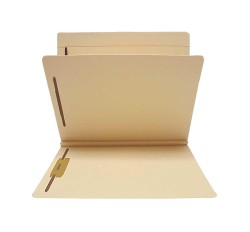 14 Pt. Manila Classification Folders, Full Cut Top Tab, Letter, 1 Divider (Box of 25)