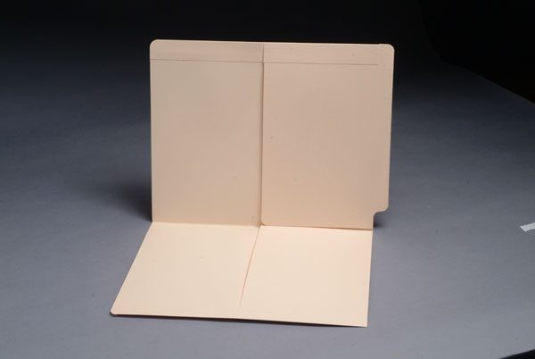 11 pt Manila Folders, Full Cut End Tab, Letter Size, 1/2 Pocket Inside Front and Back (Box of 50)