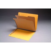 Type I Pressboard Classification Folders, Full Cut End Tab,   Letter Size, 2 Dividers, Fasteners Pos. 1 & 3 (Box of 10)