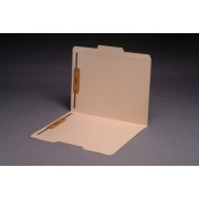 11 pt Manila Folders, 1/3 Cut Top Tab - Assorted, Letter Size, Fasteners Pos. 1 & 3 (Box of 50)