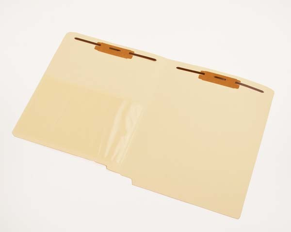 11 pt Manila Folders, Full Cut End Tab, Letter Size, 1/2 Poly Pocket, Fastener Pos. 1 & 3 (Box of 50)