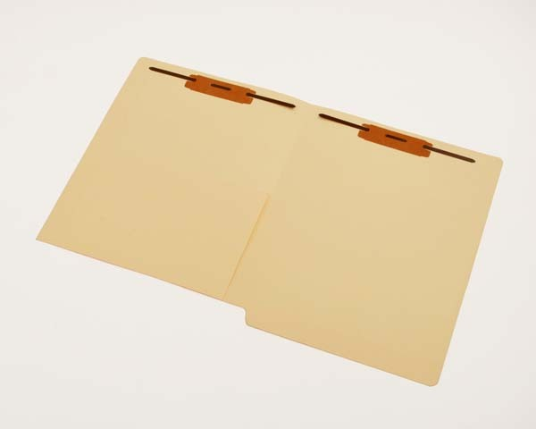 11 pt Manila Folders, Full Cut End Tab, Letter Size, 1/2 Pocket Inside Front, Fasteners Pos. 1 & 3 (Box of 50)