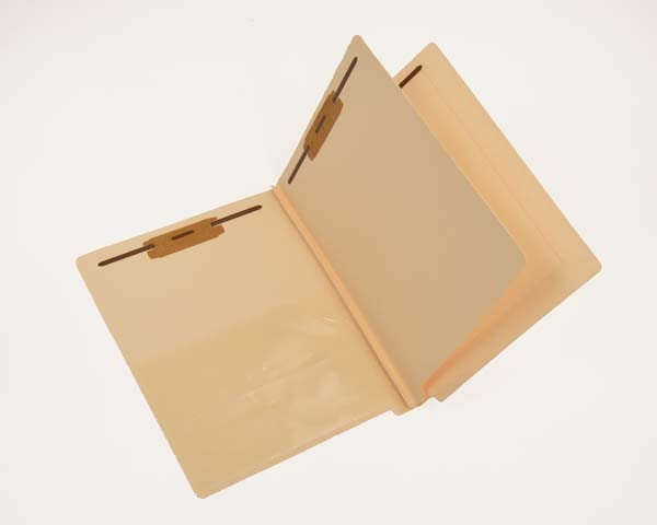14 Pt. Manila Classification Folders, End Tab, Letter, 1 Divider, Poly Pocket Installed, Fasteners Pos. 1 & 3 (Box of 25)