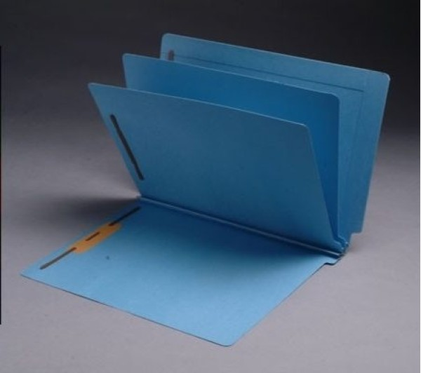 14 Pt. Color Classification Folders, Full Cut End Tab, Letter Size, 2 Dividers, Mylar Reinforced Spine (Box of 15)