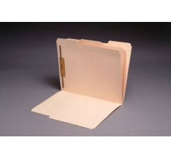 11 pt Manila Folders, 1/3 Cut Top Tab - Assorted, Letter Size, Fastener Pos. 1 (Box of 50)