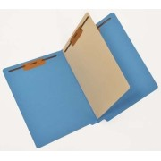 14 Pt. Color Classification Folders, Full Cut End Tab, Letter Size, 1 Divider, Mylar Reinforced Spine (Box of 40)