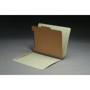 Type II Pressboard Classification Folders, Full Cut End Tab,  Letter Size, 1 Divider, Fasteners Pos. 1 & 3 (Box of 10)