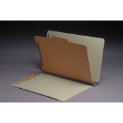 Type II Pressboard Classification Folders, Full Cut End Tab, Legal Size, 1 Divider, Fasteners Pos. 1 & 3 (Box of 10)