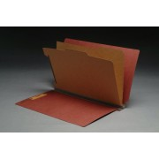 Type II Pressboard Classification Folders, Full Cut End Tab, Legal Size, 2 Dividers, Fasteners Pos. 1 & 3 (Box of 10)