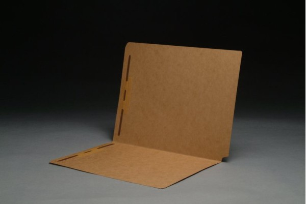 17 pt Kraft Folders, Drop Front, Letter Size, Fasteners Pos. 1 & 3 (Box of 50)